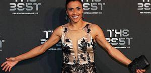 Marta foi eleita a melhor jogadora do mundo pela sexta vez