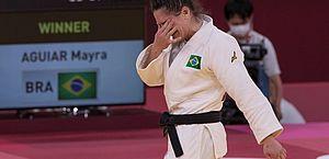 Mayra Aguiar leva o bronze no judô e faz história ao conquistar 3ª medalha em Olimpíadas