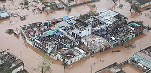 Danos deixados pela passagem do ciclone