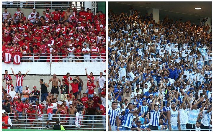Torcidas de CRB e CSA no primeiro jogo da final do Alagoano 2019