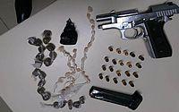 Duas pessoas são presas e um adolescente apreendido por tráfico e porte ilegal de arma em Murici