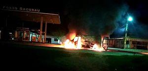 Ambulância pega fogo durante socorro a criança em Jaramataia; veja vídeo