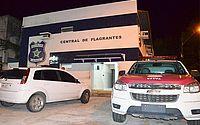 Casal sofre ataque com faca e suspeitos são detidos em flagrante, em Santa Lúcia