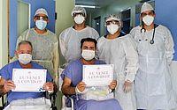 Recuperados da Covid-19, pai e filho cearenses têm alta hospitalar no mesmo dia