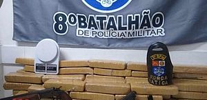 Polícia apreende armas de fogo e cerca de 50 kg de maconha; suspeito é preso