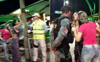 Vídeo: jovem é detida por desacato na orla após agredir verbalmente agentes de segurança