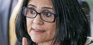 A ministra da Mulher, da Família e dos Direitos Humanos, Damares Alves