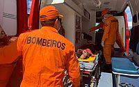 Colisão entre carro e moto termina com motoqueiro ferido no Barro Duro