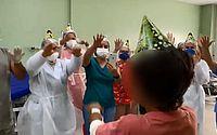 Criança de Pão de Açúcar se emociona com festa de aniversário em hospital, onde se recupera de espancamento