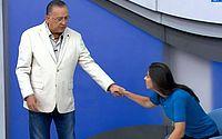 Galvão Bueno faz pedido formal de desculpas a repórter Nadja Mauad durante Bem Amigos
