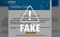 É falso e-mail que pede atualização de assinatura eletrônica da Caixa Econômica