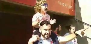 Garotinha entra pela primeira vez em estádio e reação viraliza