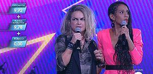 Falha técnica ao vivo no Popstar espanta Lua Blanco e Taís Araújo