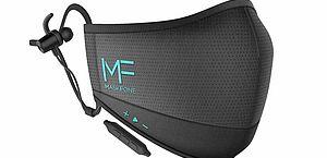 Nova máscara de proteção traz fone de ouvido sem fio embutido
