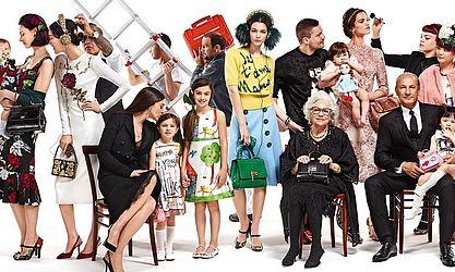Eloisa na campanha da Dolce & Gabbana em 2016