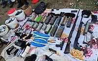 Material apreendido com o grupo criminoso na operação policial