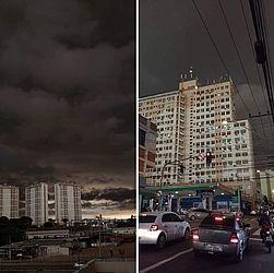 Imagens mostram nuvem de fumaça em cidades do Sudeste