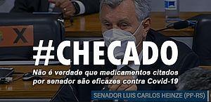 Medicamentos defendidos por senador não são eficazes contra Covid-19