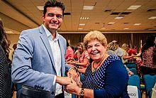 Prefeito Rui Palmeira e a secretária de Educação Ana Dayse Dorea