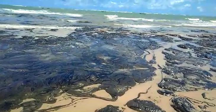 Manchas em praia de Coruripe