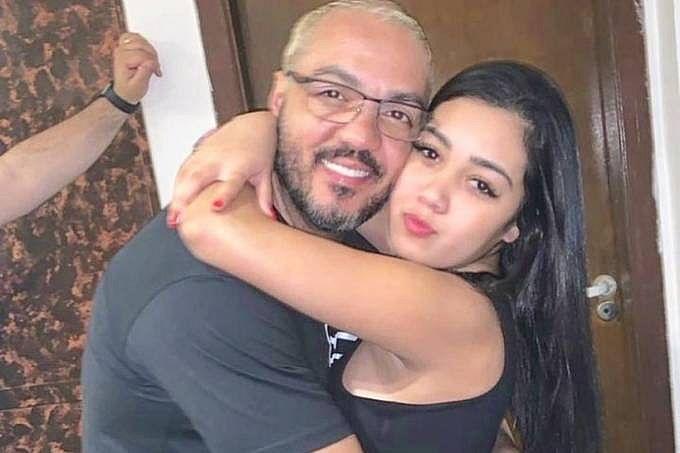 Cantor Belo e a filha, Isabela Alkimin Vieira