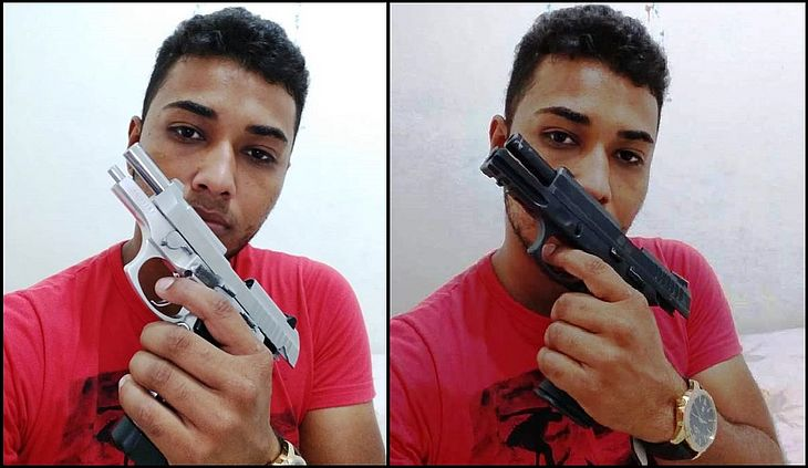 Fotos foram encontradas em celular de suspeito morto