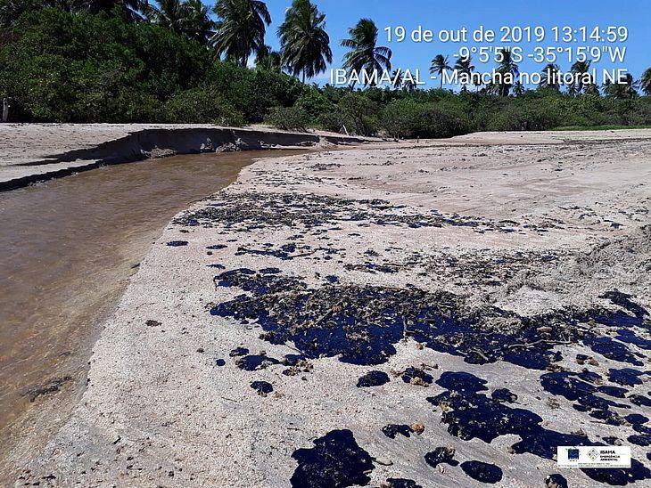 Petróleo na praia de Japaratinga