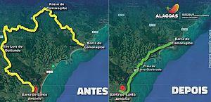 Nova rodovia em rota turística do Litoral Norte de Alagoas será entregue no próximo verão