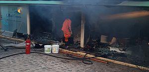 Incêndio destrói parte de pousada no Alto do Cruzeiro, em Maragogi