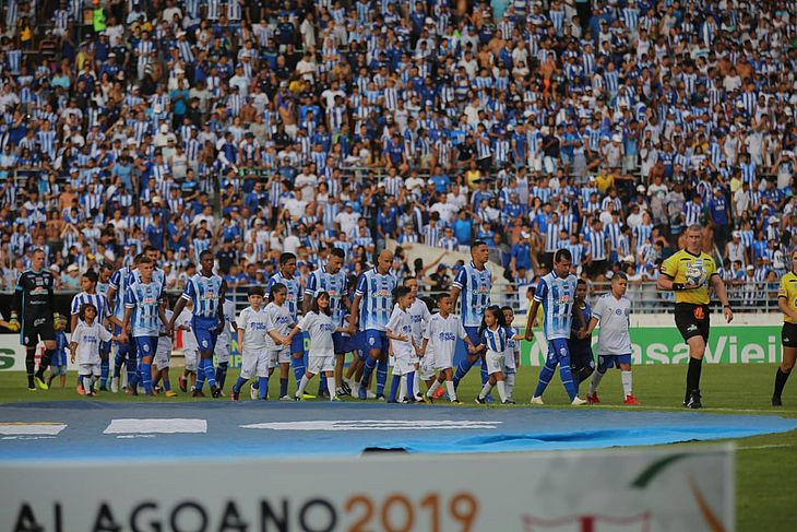 CSA foi o mandante no primeiro jogo da final do Alagoano 2019