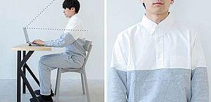 """Marca japonesa cria pijamas para """"trabalhar em casa"""" que são perfeitos para videoconferências"""