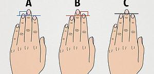 O que seus dedos 'contam' sobre sua personalidade
