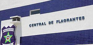 O jovem foi conduzido à Central de Flagrantes