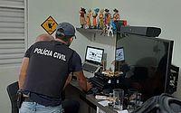 Policiais cumprem mandados de busca e apreensão de arquivos com conteúdo relacionado aos crimes de exploração sexual praticados contra crianças e adolescentes