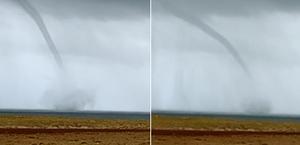 Imagens mostram tromba d'água em praia no Piauí; assista