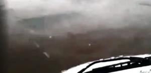 Motorista registrou tempestade de granizo em Delmiro
