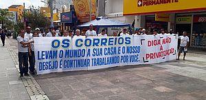Manifestação em AL contra privatização dos Correios