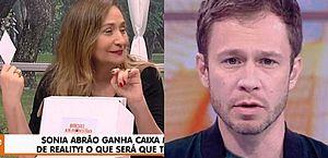 Tiago Leifert surpreende Sonia Abrão com presente inusitado; entenda