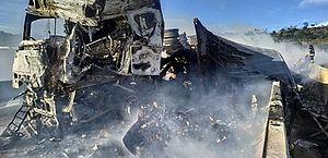 Instituto de Criminalística de Alagoas identifica caminhoneiro carbonizado na BR-101