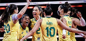 Vôlei: seleção feminina decide título da Liga das Nações contra os EUA