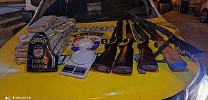 Operação do BPtran apreende armas e mais de 16 kg de maconha e cocaína em Maceió