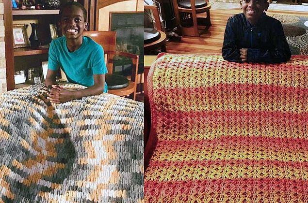 Garoto de 11 anos faz crochê, ensina online e recebe 4 mil pedidos