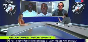 Presidente do Vasco e apresentador de TV discutem ao vivo por uso de máscara