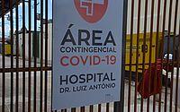 Movimentação em hospital de campanha montado para pacientes com a Covid-19 na cidade de Parnamirim, no Rio Grande do Norte, nessa terça-feira (2)