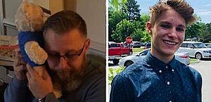 Pai ganha ursinho com gravação de batimentos cardíacos do filho falecido; veja vídeo
