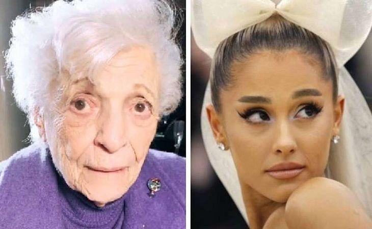 Nonna, a avó de Ariana Grande, e a cantora