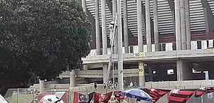 Abelhas atacam torcedores que saíam do Mané Garrincha