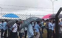Funcionários da Ford iniciaram protesto em Camaçari
