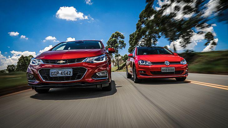 Chevrolet Cruze e Volkswagen Golf