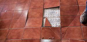 Rachadura em piso de apartamento provoca susto em moradores no Farol
